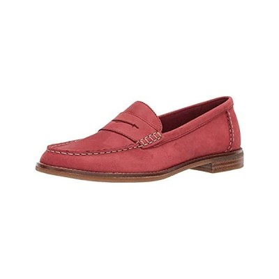 Sperry Women's Seaport Penny Loafer, Washed Red, 5