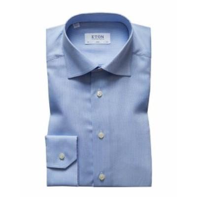 Eton イートン ファッション アウター Eton Slim Woven Dress Shirt 42 Brown