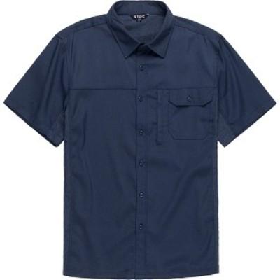 ストイック メンズ シャツ トップス Solid Performance Woven Button-Down Shirt - Men's Navy