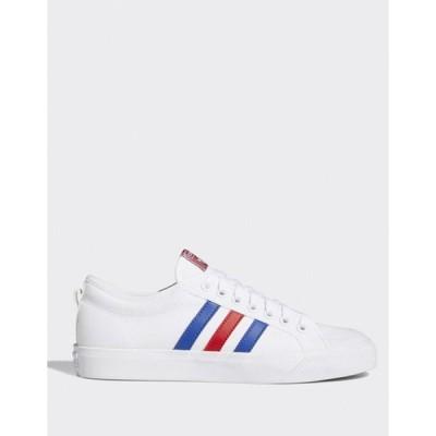 アディダス メンズ スニーカー シューズ adidas Originals nizza sneakers white red