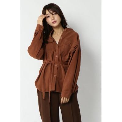 【エルビーシー】 ハチの巣コールシャツジャケット レディース ピンク M(9ゴウ) LBC