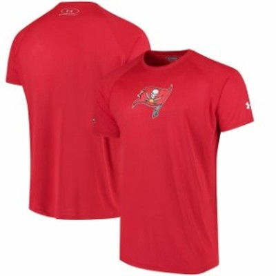 Under Armour アンダー アーマー スポーツ用品  Under Armour Tampa Bay Buccaneers Red Combine Authentic Primary Logo Performance T-