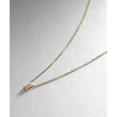 COCOSHNIK(ココシュニック) K18ダイヤモンド トゥーライン ネックレス小