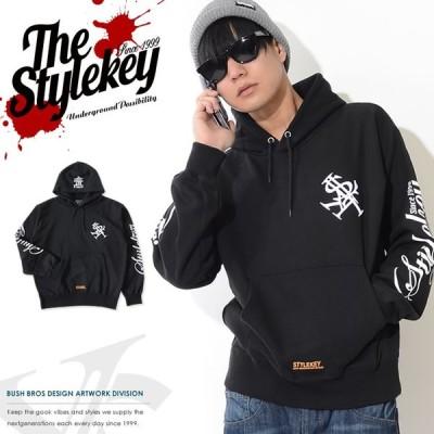 STYLEKEY スタイルキー スウェットパーカー 胸ロイヤルロゴ刺繍 アームスクリプト セール