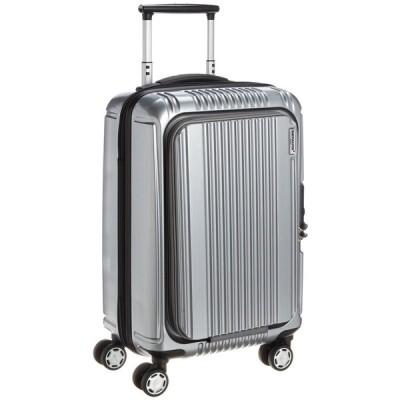 [バーマス] スーツケース プレステージ2 フロントオープン 縦型 4輪 34L 2.9kg キャスター交換可能 機内持ち込み可 A4収納可 60261 シルバー