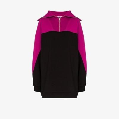 ナイティーパーセント Ninety Percent レディース スウェット・トレーナー トップス oversized zipped sweatshirt pink