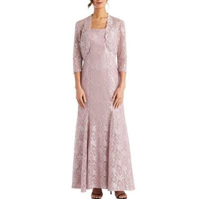 アールアンドエムリチャーズ レディース ワンピース トップス Floral Glitter Lace Jacket Gown