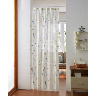 パタパタたためて幅丈調節出来る2Way間仕切り水玉柄カーテン のれん・カフェカーテン, Curtains(ニッセン、nissen)