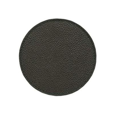 黒桟革 藍染め コースター レザー 漆塗り 高級 ギフト テーブルウェア プレゼント (黒)