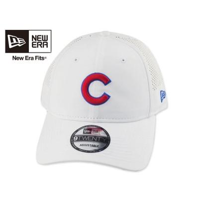 【軽量】☆NEWERA【ニューエラ】MLB 9TWENTY Chicago Cubs PERF PIVOT WHITE シカゴ・カブス ホワイト [メンズ レディース]