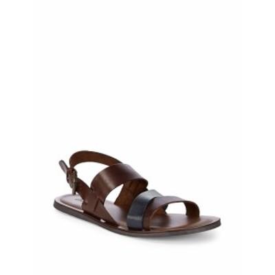 マッシモマッテオ メンズ サンダル スリッポン Leather Strap Sandals