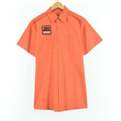 DURABLE PRESS 半袖 ワークシャツ USA製 メンズM /eaa050201