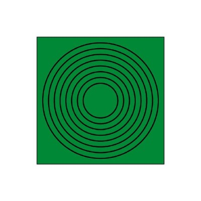 ユニット UNIT 446-86 ゲージマーカー円形緑