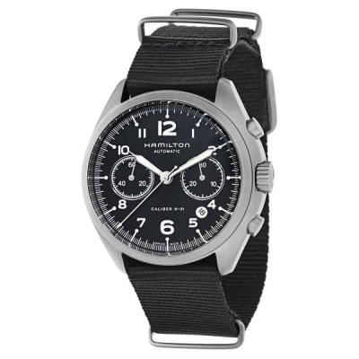 ハミルトン 腕時計 Hamilton メンズ H76456435 Khaki Aviation アビエーション Black Dial 41mm Canvas Watch