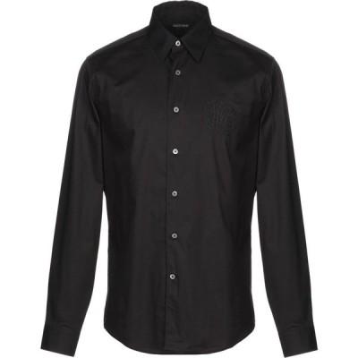 ロベルト カヴァリ ROBERTO CAVALLI メンズ シャツ トップス Solid Color Shirt Black