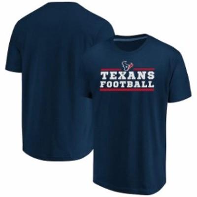 Majestic マジェスティック スポーツ用品  Majestic Houston Texans Navy Safety Blitz T-Shirt