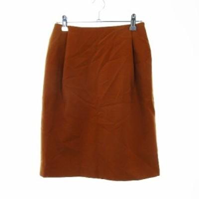 【中古】ドゥーズィエムクラス DEUXIEME CLASSE スカート 台形 ひざ丈 無地 36 茶 ブラウン /MO レディース