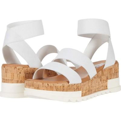 スティーブ マデン Steve Madden レディース サンダル・ミュール ウェッジソール シューズ・靴 Bandi Wedge Sandal White