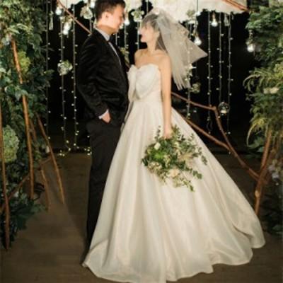 ウェディングドレス マタニティ 体型カバー ハイウエスト マタニティウェディングドレス 大きいサイズ 花嫁 妊婦 白 チューブトップ