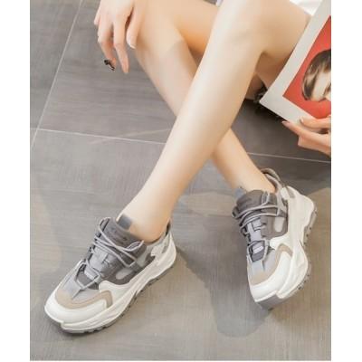 Shoes in Closet -シュークロ- / 厚底 ボリュームソール バイカラー ダッドスニーカー《約6.5㎝ソール》08 WOMEN シューズ > スニーカー