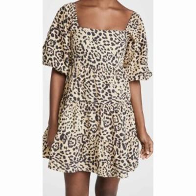 フェイスフルザブランド FAITHFULL THE BRAND レディース ワンピース ミニ丈 ワンピース・ドレス Eryn Mini Dress Shamari Animal Print