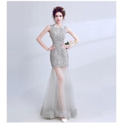 最高級★ウエディングドレス  披露宴 透かし彫り 結婚式 エレガント 演奏会 パーティードレス  二次会 セクシーワンピース