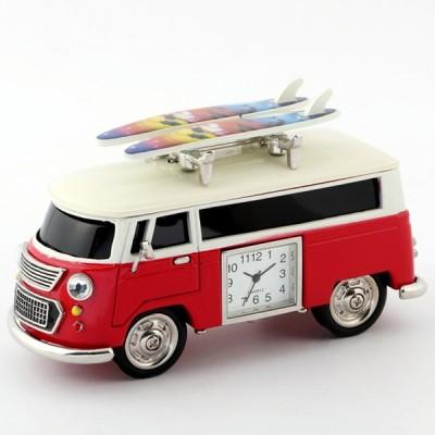 ミニチュアクロックコレクション[Miniature Clock Collection]ミニチュア置時計 車 バス サーフボード レッド 赤/MC-C3159KP238-RD
