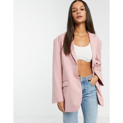 モンキ レディース ジャケット&ブルゾン アウター Monki Grace blazer in pink Pink