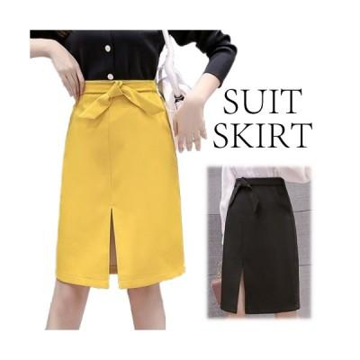 スリットスカート スカート タイトスカート リボン シンプル ミニスカート ミニ きれいめ セクシー ポケットつき