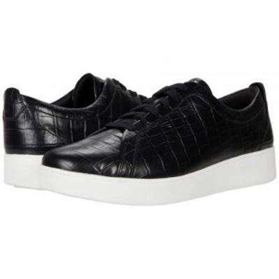 FitFlop フィットフロップ レディース 女性用 シューズ 靴 スニーカー 運動靴 Rally Croc Print Black【送料無料】
