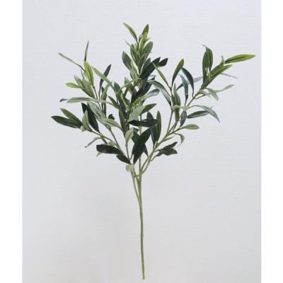 オリーブスプレー 実無し リーフ (造花 インテリア 葉  飾り 人工観葉植物)