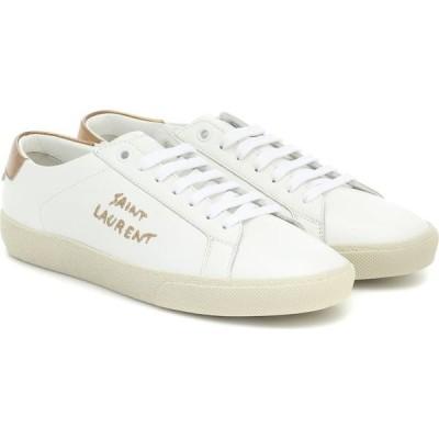 イヴ サンローラン Saint Laurent レディース スニーカー シューズ・靴 Court Classic Leather Sneakers Blanc Op/Or Sc/Or Sc