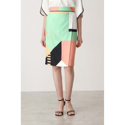 【ピンキーアンドダイアン/PINKY&DIANNE】 カラーブロックプリントスカート