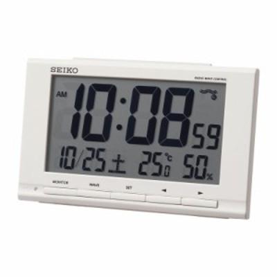 セイコー 温・湿度表示付 電波目覚時計 SQ789W / ポイント消化 ギフト プレゼント 内祝 SALE
