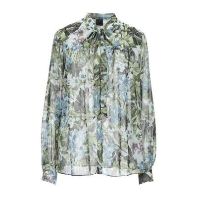 PINKO フローラル柄シャツ&ブラウス  レディースファッション  トップス  シャツ、ブラウス  長袖 ミリタリーグリーン