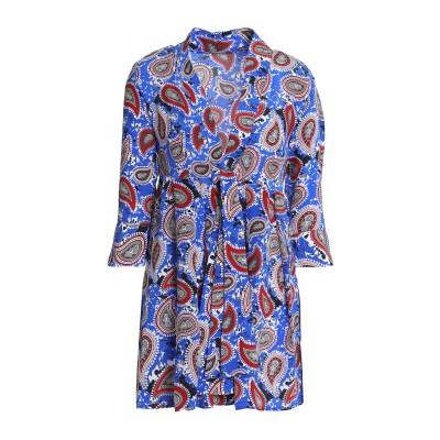 ドド・バー・オア DODO BAR OR ミニワンピース&ドレス ブルー 42 シルク 100% ミニワンピース&ドレス