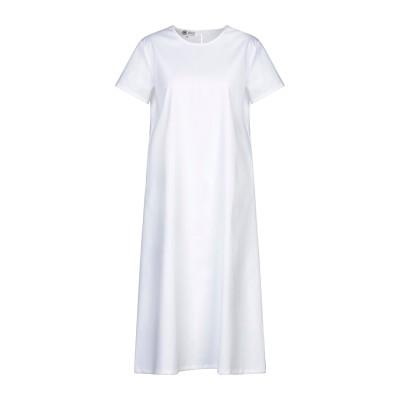 BINI Como 7分丈ワンピース・ドレス ホワイト 40 コットン 100% 7分丈ワンピース・ドレス