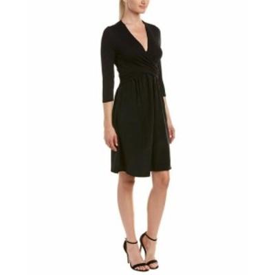 Three Dots スリー ドッツ ファッション ドレス Three Dots Crossover Silk Skirt A-Line Dress