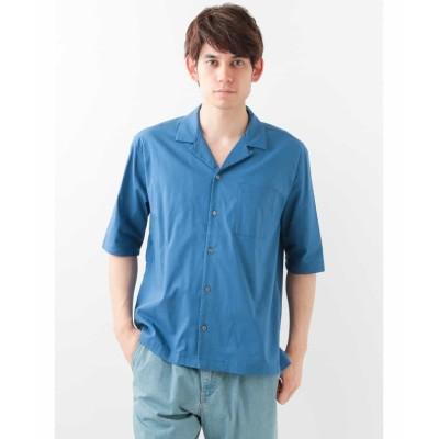 【エムケーオム】 ビックシルエットシャツ メンズ ブルー M MK homme