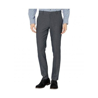 Perry Ellis Portfolio ペリーエリス メンズ 男性用 ファッション パンツ ズボン Very Slim Heathered Pattern Dress Pants - Navy