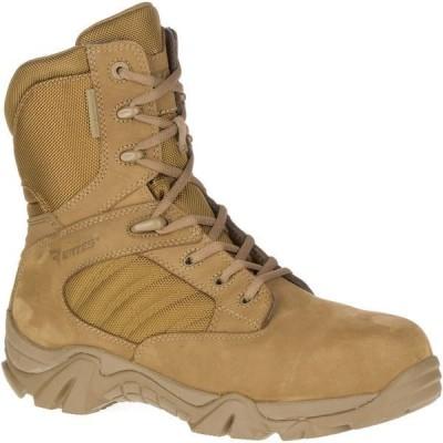 ベイツ ブーツ&レインブーツ シューズ メンズ Bates Men's GX-8 Waterproof Composite Toe Side Zip Work Boots Coyote