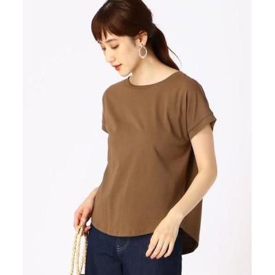 COMME CA ISM/コムサイズム 《コットン》 日本の伝統色(R)Tシャツ 朽葉色(ブラウン) S