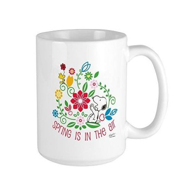CafePress Snoopy Spring Large Mug Coffee Mug, Large 15 oz. White Coffee Cup