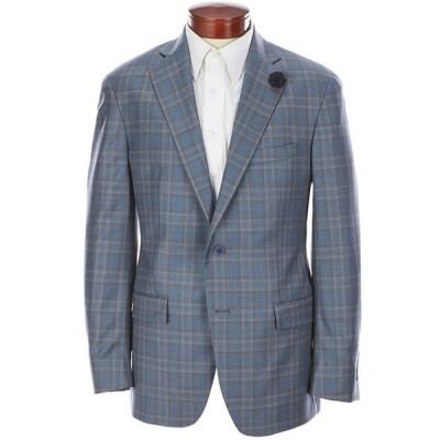 ハート シャフナー マルクス メンズ ジャケット・ブルゾン アウター Classic-Fit Teal Plaid Wool Sportcoat