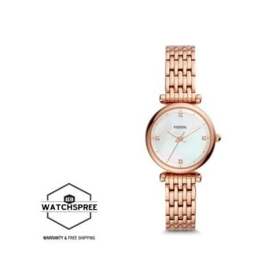 腕時計 フォッシル Fossil Ladies' Carlie Mini Three-Hand Rose Gold-Tone Watch ES4429