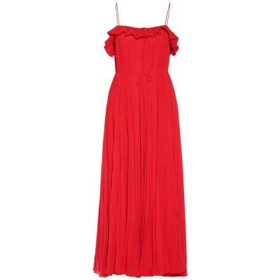 ADAM LIPPES 7分丈ワンピース・ドレス レッド 8 ポリエステル 100% / シルク 7分丈ワンピース・ドレス