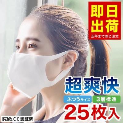 マスク 不織布 使い捨て 立体 25枚 ホワイト 白 超快適な超精密99%カットフィルター ウィルス飛沫対策