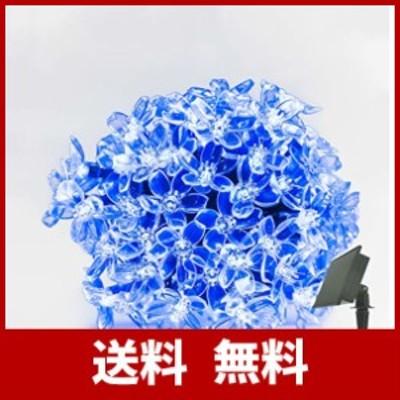 RPGT ソーラー LEDイルミネーションライト 13m 100LED 桜の花 ソーラーライトストリング USB充電式 防水 8ライトモード ソーラー充電