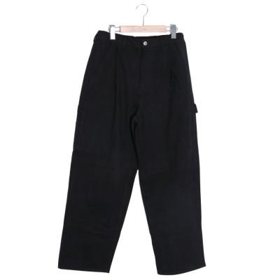 【スカラー】 クマパン刺繍テーパードパンツ レディース ブラック M ScoLar
