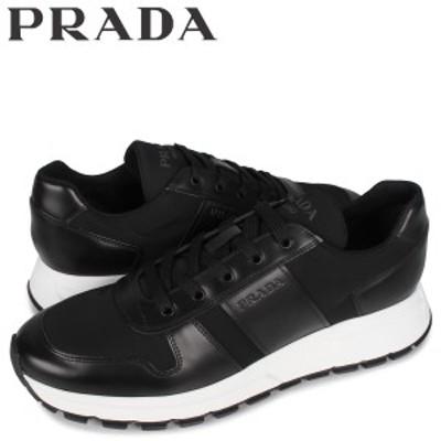 プラダ PRADA スニーカー メンズ PRAX 01 SNEAKER NYLON ブラック 黒 4E3463